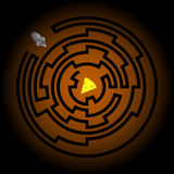 The Maze, the Rat and the Cheese. The Rat, the Cheese, and the Maze Stock Image