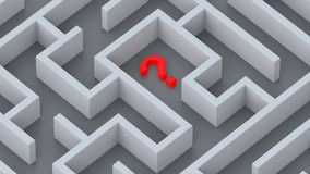 Maze and red question mark concept Stock Images