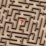 Maze and red question mark concept Royalty Free Stock Photo