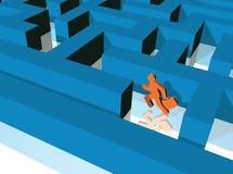 Maze runner Royalty Free Stock Photos