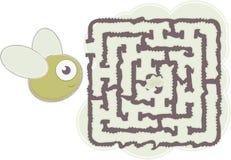 Maze's bee Royalty Free Stock Image