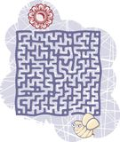 Maze's bee Stock Photo