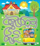 Maze 7 with school bus Stock Images