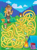 Maze 1 with scout girl Stock Image