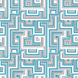 Maze seamless pattern. Stock Images