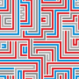 Maze seamless pattern. Royalty Free Stock Photos
