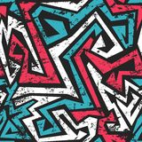 Maze seamless pattern with grunge effect Stock Photo