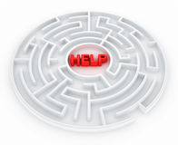 Maze - Search for help Royalty Free Stock Photo