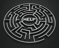 Maze - Search for help Royalty Free Stock Photos