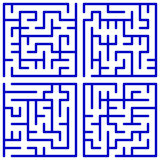 Maze set Stock Images
