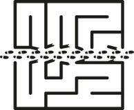 Maze Shortcut stock illustration