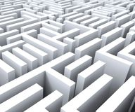 Maze Shows Challenge Or Complexity. Maze Shows Challenge Confusing Puzzling Or Complexity stock illustration