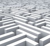 Maze Shows Problem Or Complexity. Maze Shows Problem Confusing Puzzling Or Complexity stock illustration