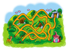 Mountain road maze Stock Photography