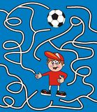 Maze, soccer Stock Images
