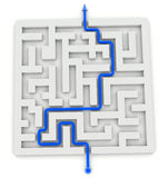 Maze and solution. See my other works in portfolio Royalty Free Stock Photography
