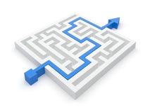 Maze Solution royalty illustrazione gratis