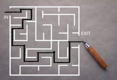 Maze solution concept.jpg Royalty Free Stock Photos