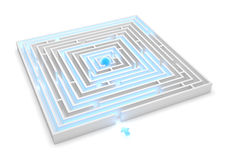 Maze Solution royalty free illustration