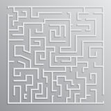 Maze solution vector design Royalty Free Stock Image