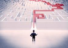 Maze solved for businessman concept Stock Photos