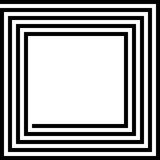 Maze Square Royalty Free Stock Photos
