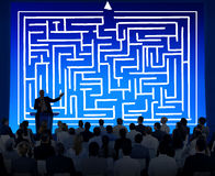 Maze Strategy Success Solution Determination Direction Concept Royalty Free Stock Images