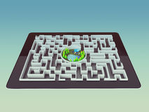 Maze Strategy Success Solution Determination Direction Concept Royalty Free Stock Photography
