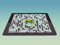 Maze Strategy Success Solution Determination Direction Concept Stock Photography