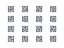 Maze symbols Royalty Free Stock Photos