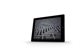 Maze on tablet screen Stock Image
