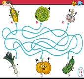 Maze taks for preschool kids Royalty Free Stock Image