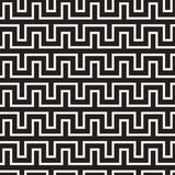 Maze Tangled Lines Contemporary Graphic. Abstract Geometric Background Design. Vector Seamless Pattern. Stock Photos