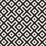 Maze Tangled Lines Contemporary Graphic. Abstract Geometric Background Design. Vector Seamless Pattern. Stock Images