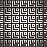 Maze Tangled Lines Contemporary Graphic. Abstract Geometric Background Design. Vector Seamless Pattern. Stock Photo