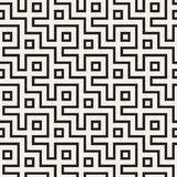 Maze Tangled Lines Contemporary Graphic. Abstract Geometric Background Design. Vector Seamless Pattern. Royalty Free Stock Photography
