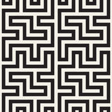 Maze Tangled Lines Contemporary Graphic Abstract geometrisch Ontwerp als achtergrond Vector naadloos patroon Stock Foto's