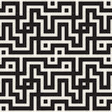 Maze Tangled Lines Contemporary Graphic Abstract geometrisch Ontwerp als achtergrond Vector naadloos patroon Stock Foto
