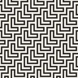 Maze Tangled Lines Contemporary Graphic Abstract geometrisch Ontwerp als achtergrond Vector naadloos patroon Stock Fotografie