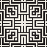 Maze Tangled Lines Contemporary Graphic Abstract geometrisch Ontwerp als achtergrond Vector naadloos patroon Royalty-vrije Stock Foto's