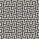 Maze Tangled Lines Contemporary Graphic Abstract geometrisch Ontwerp als achtergrond Vector naadloos patroon Royalty-vrije Stock Afbeelding