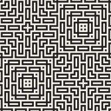 Maze Tangled Lines Contemporary Graphic Abstract geometrisch Ontwerp als achtergrond Vector naadloos patroon Royalty-vrije Illustratie