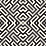 Maze Tangled Lines Contemporary Graphic Abstract geometrisch Ontwerp als achtergrond Vector naadloos patroon Stock Afbeeldingen