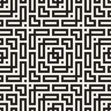Maze Tangled Lines Contemporary Graphic Abstract geometrisch Ontwerp als achtergrond Vector naadloos patroon Stock Fotografie