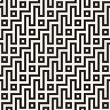 Maze Tangled Lines Contemporary Graphic Abstract geometrisch Ontwerp als achtergrond Vector naadloos patroon Stock Afbeelding