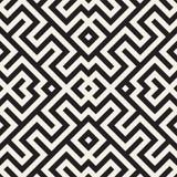 Maze Tangled Lines Contemporary Graphic Abstract geometrisch Ontwerp als achtergrond Vector naadloos patroon Royalty-vrije Stock Afbeeldingen