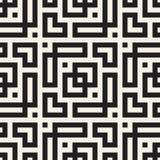Maze Tangled Lines Contemporary Graphic Abstract geometrisch Ontwerp als achtergrond Vector naadloos patroon Vector Illustratie