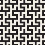 Maze Tangled Lines Contemporary Graphic Abstract geometrisch Ontwerp als achtergrond Vector naadloos patroon Stock Illustratie