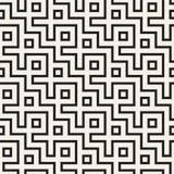 Maze Tangled Lines Contemporary Graphic Abstrakter geometrischer Hintergrund Entwurf Vector nahtloses Muster Lizenzfreie Stockfotografie
