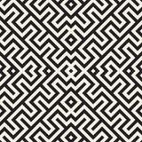 Maze Tangled Lines Contemporary Graphic Conception géométrique abstraite de fond Dirigez la configuration sans joint Photos stock